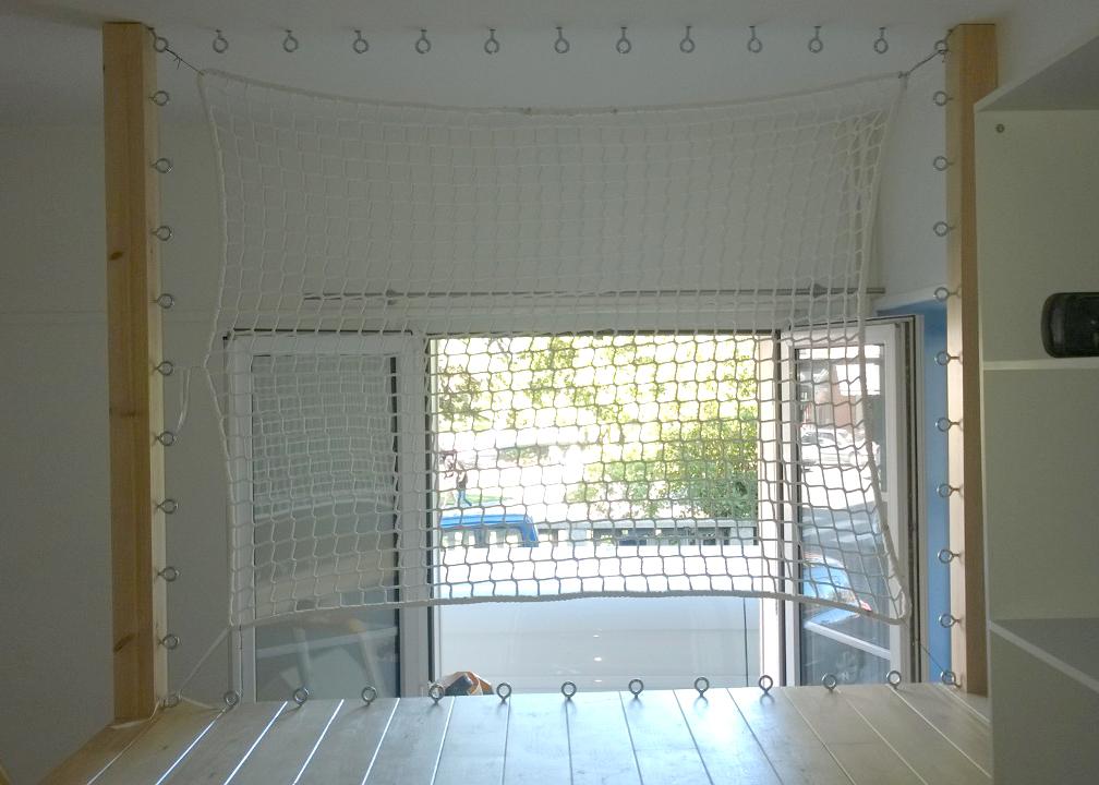 filet de sécurité pour mezzanine